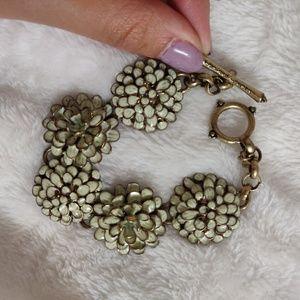 Rare Lucky Brand Floral Blue Green Bracelet